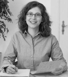 Schwarzweiß-Portrait von Rita Dachner