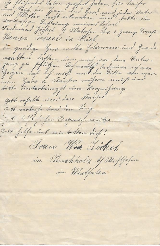 Ein auf vergilbtem Papier erhaltener Text in Kurrentschrift.