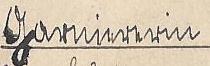 """Schriftzug """"Garniererin"""""""